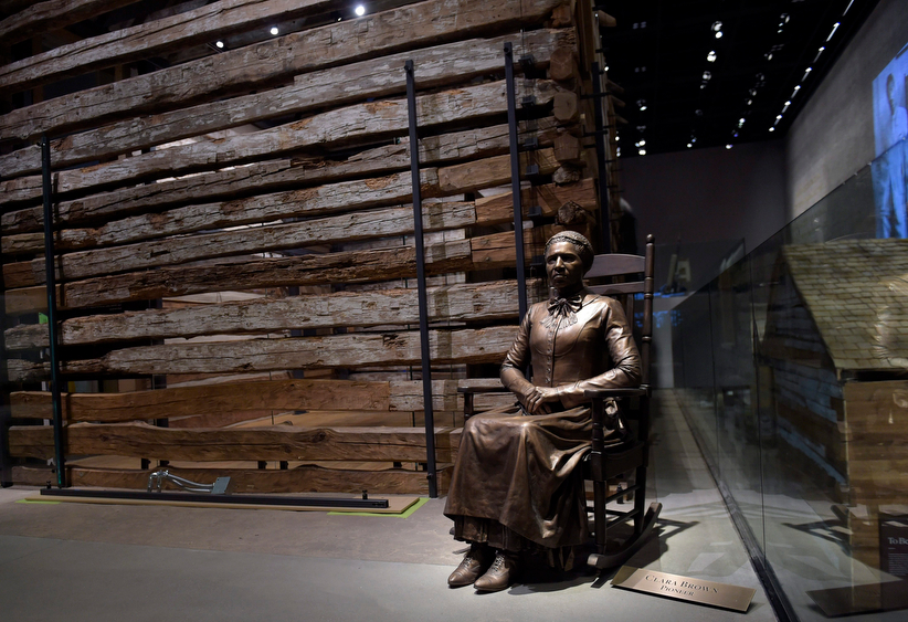A statue of pioneer Clara Brown, who was born a slave in Virginia around 1800, is on display at the National Museum of African American History and Culture in Washington, Wednesday, Sept. 14, 2016. Brown travelled to Colorado, after she was freed when her slaveowner died in 1856, where she established a successful laundry business. (Susan Walsh/AP)