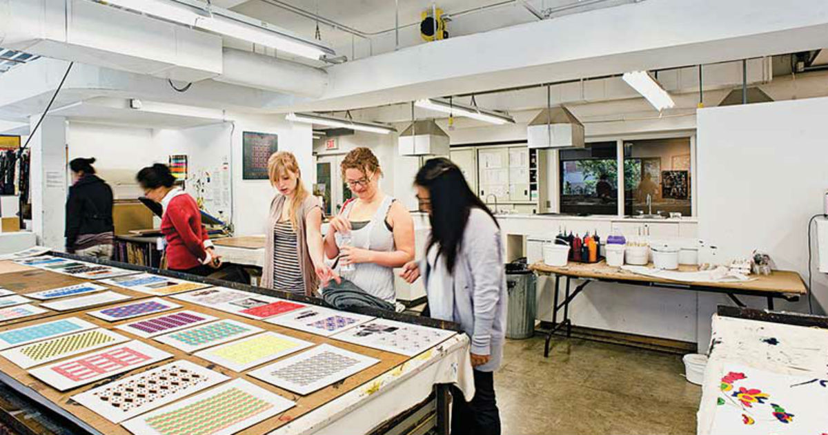 OCAD University students in class