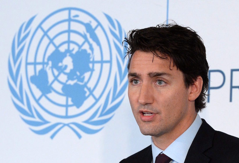 Prime Minister Justin Trudeau speaks at a Global Compact Luncheon at the United Nations headquarters in New York on Monday, Sept. 19, 2016. THE CANADIAN PRESS/Sean Kilpatrick