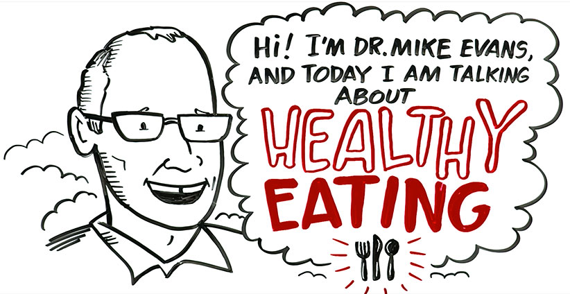 "Video screen grab from Dr. Mike Evan's video titled ""What's the Best Diet? Healthy Eating 101"". (DocMikeEvans/YouTube)"