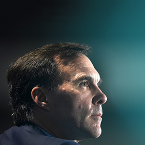 Minister of Finance Bill Morneau participates in a Q&A session at the Public Policy Forum's Growth Summit on Wednesday, Oct. 12, 2016 in Ottawa. (Justin Tang/CP)