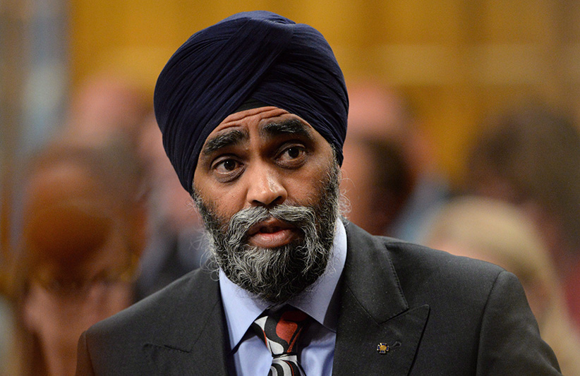 Defence Minister Harjit Sajjan answers a question during Question Period in the House of Commons in Ottawa on Thursday, June 9, 2016. (Adrian Wyld/CP)