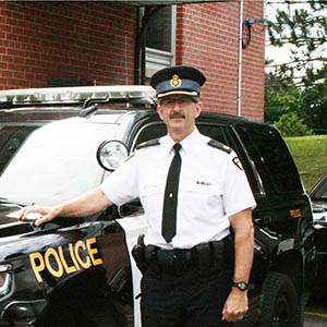 Pictured, inspector Ed Medved with the Bracebridge OPP, has held that position for the last nine years. Medved has been a member of the OPP for 32 years come February 2017. (Paige Phillips/Metroland/Toronto Star)