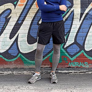 Men wearing shorts with pantyhose