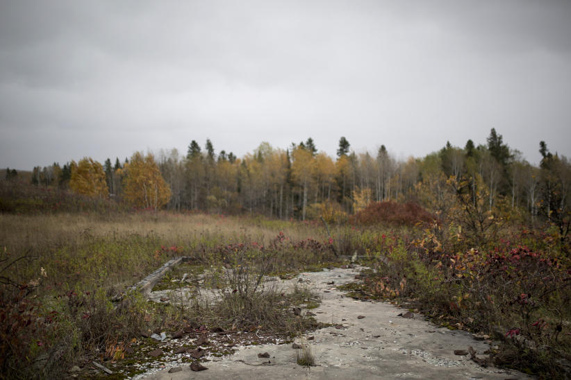 Former site of St. Mary's Indian Residential School on the outskirts of Kenora, Ontario. (Photograph by Nick Iwanyshyn)