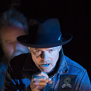 Gord Downie is seen performing part of his solo project, 'Secret Path' at the National Arts Centre, in Ottawa. The album is a collection of songs which tell the story of Chanie Wenjack, who died fleeing a residential school 50 years ago. (Adrian Wyld/CP)