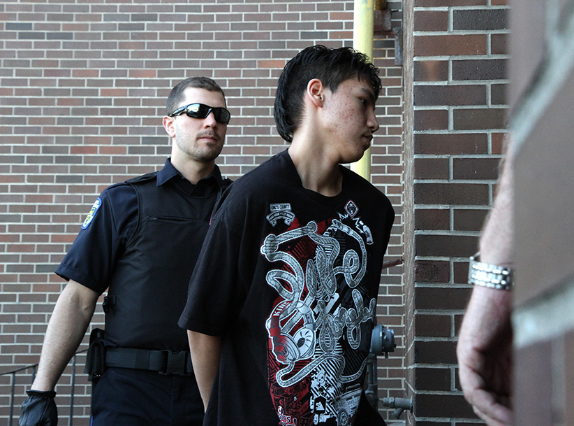 Adam Capay going into court in 2012. (Jeff Labine/DougallMedia/tbnewswatch.com)