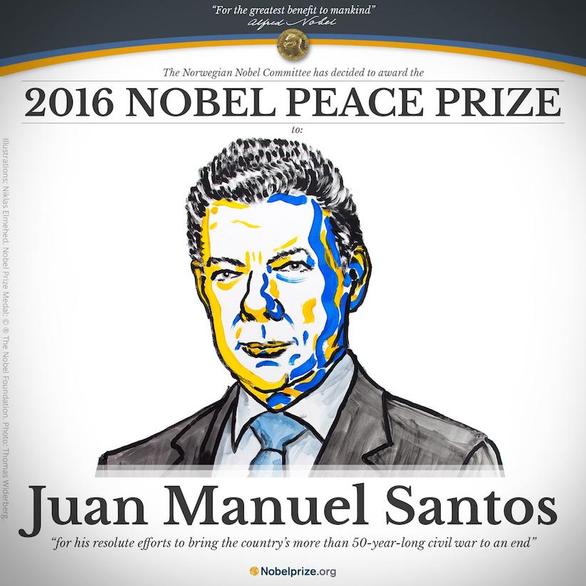 Nobel Peace Prize: Juan Manuel Santos