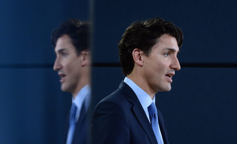 Prime Minister Justin Trudeau holds a press conference at the National Press Theatre in Ottawa on Tuesday, Nov. 29, 2016. Trudeau is approving Kinder Morgan's proposal to triple the capacity of its Trans Mountain pipeline from Alberta to Burnaby, B.C. — a $6.8-billion project that has sparked protests by climate change activists from coast to coast. THE CANADIAN PRESS/Sean Kilpatrick