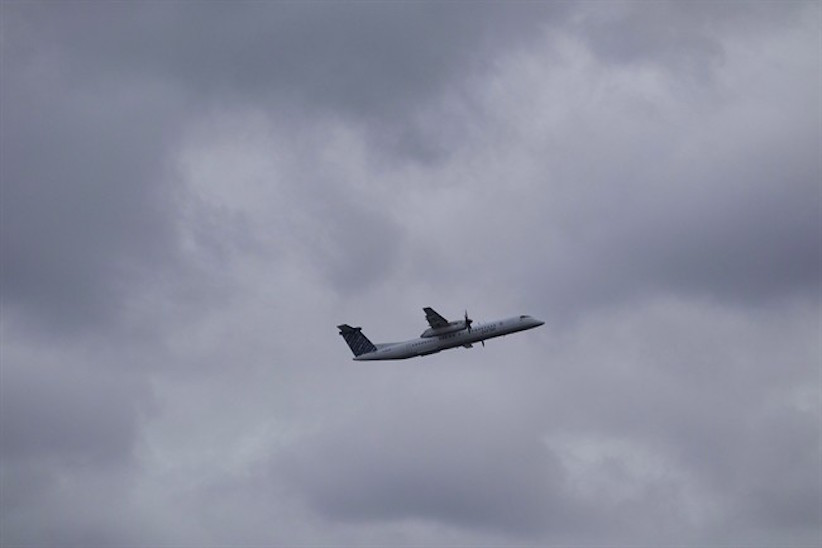 A Porter Airlines plane takes off from Toronto's Island Airport on Friday, November 13, 2015. (Chris Young/CP)