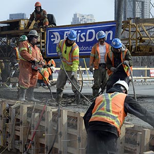 A bridge is seen under construction in Toronto, March 10, 2014. (Aaron Harris/Reuters)