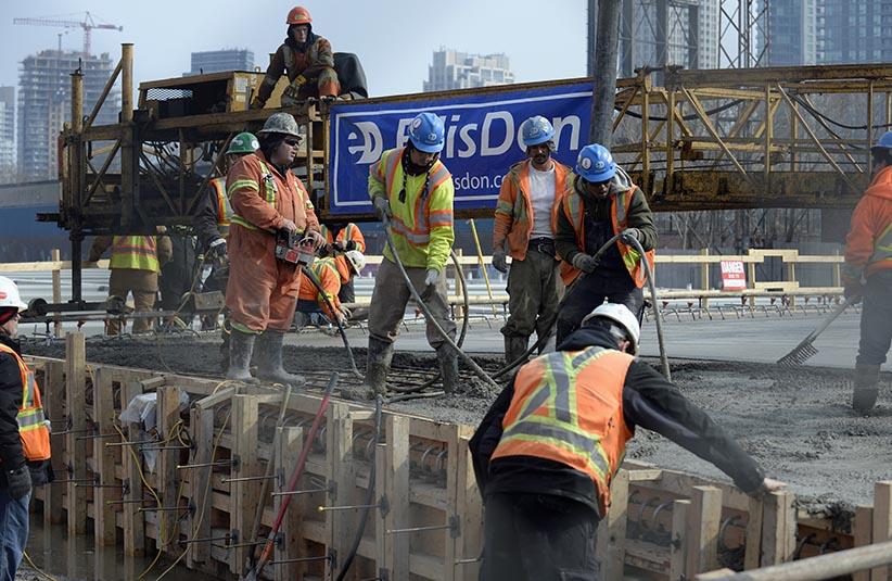 A bridge is seen under construction in Toronto, March 10, 2014. (Aaron Harris/Reuters)