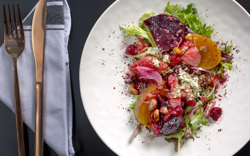 Beets and Grapefruit from Planta in Toronto. (Photograph by Chris Robinson)