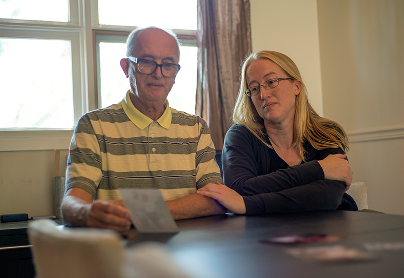Shelley Duffin and her father reflect on her mother's passing through assisted suicide in Switzerland—because she was narrowly denied the right in Canada. (Photograph by Jessica Deeks)