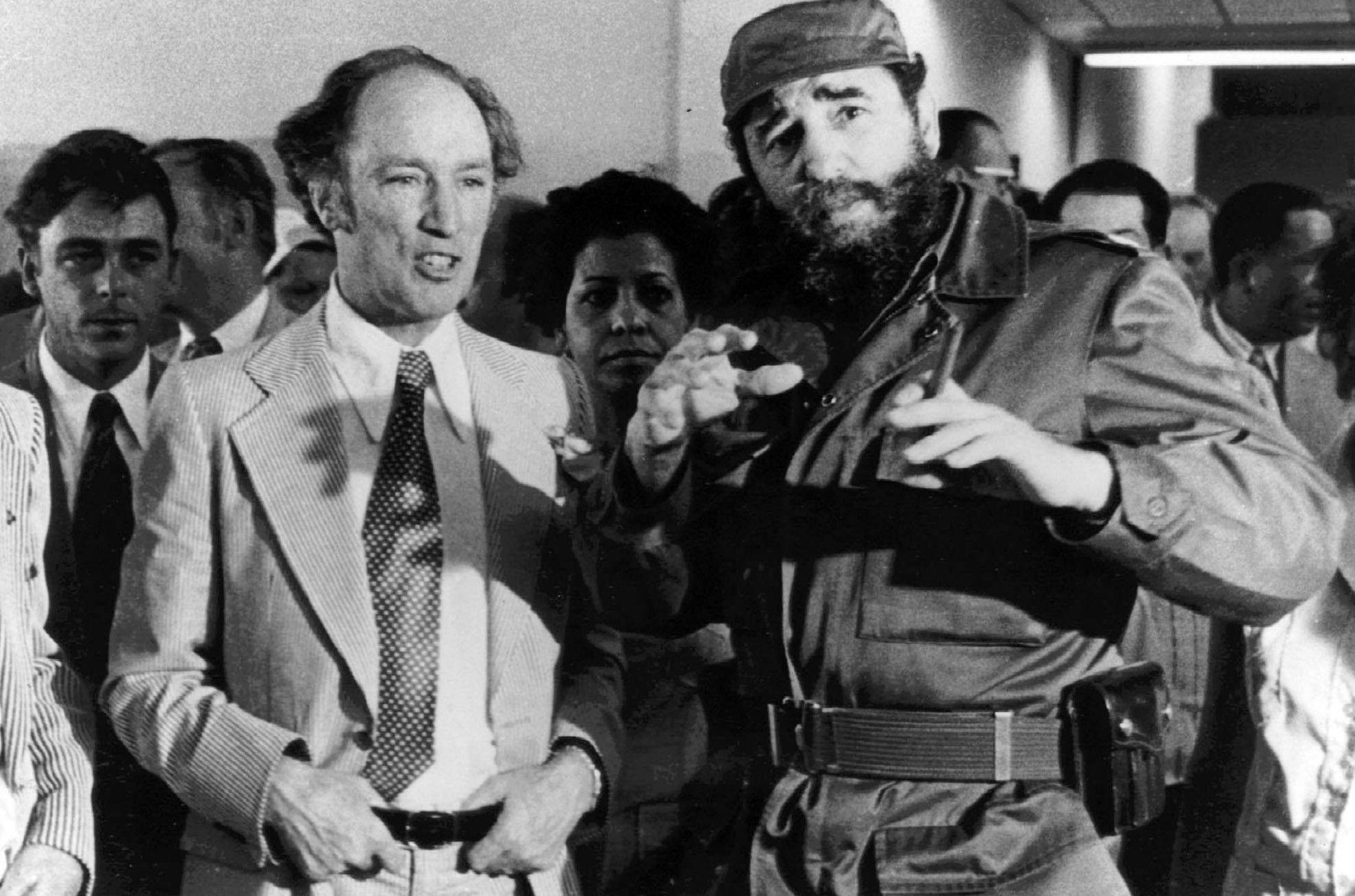 Image result for pierre trudeau and fidel castro