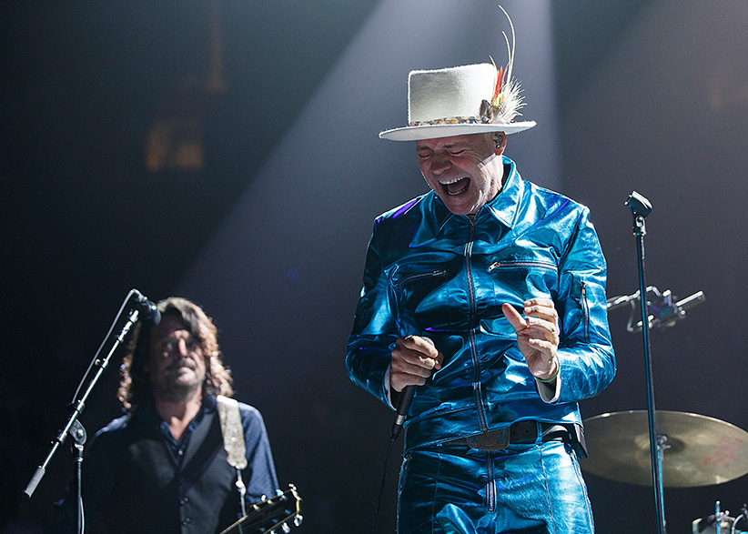 Gord Downie of The Tragically Hip performs onstage during their 'Man Machine Poem Tour' at Rogers Arena on July 24, 2016 in Vancouver, Canada. (Andrew Chin/Getty Images)