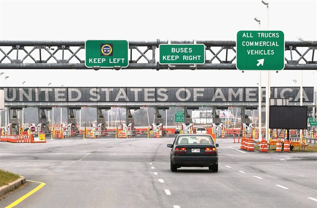 The United States border crossing is shown Wednesday, December 7, 2011 in Lacolle, Que., south of Montreal. A bill with potentially sweeping consequences for the Canada-U.S. border has just been adopted by the American Congress, allowing new projects aimed at speeding up travel through the international boundary. THE CANADIAN PRESS/Ryan Remiorz