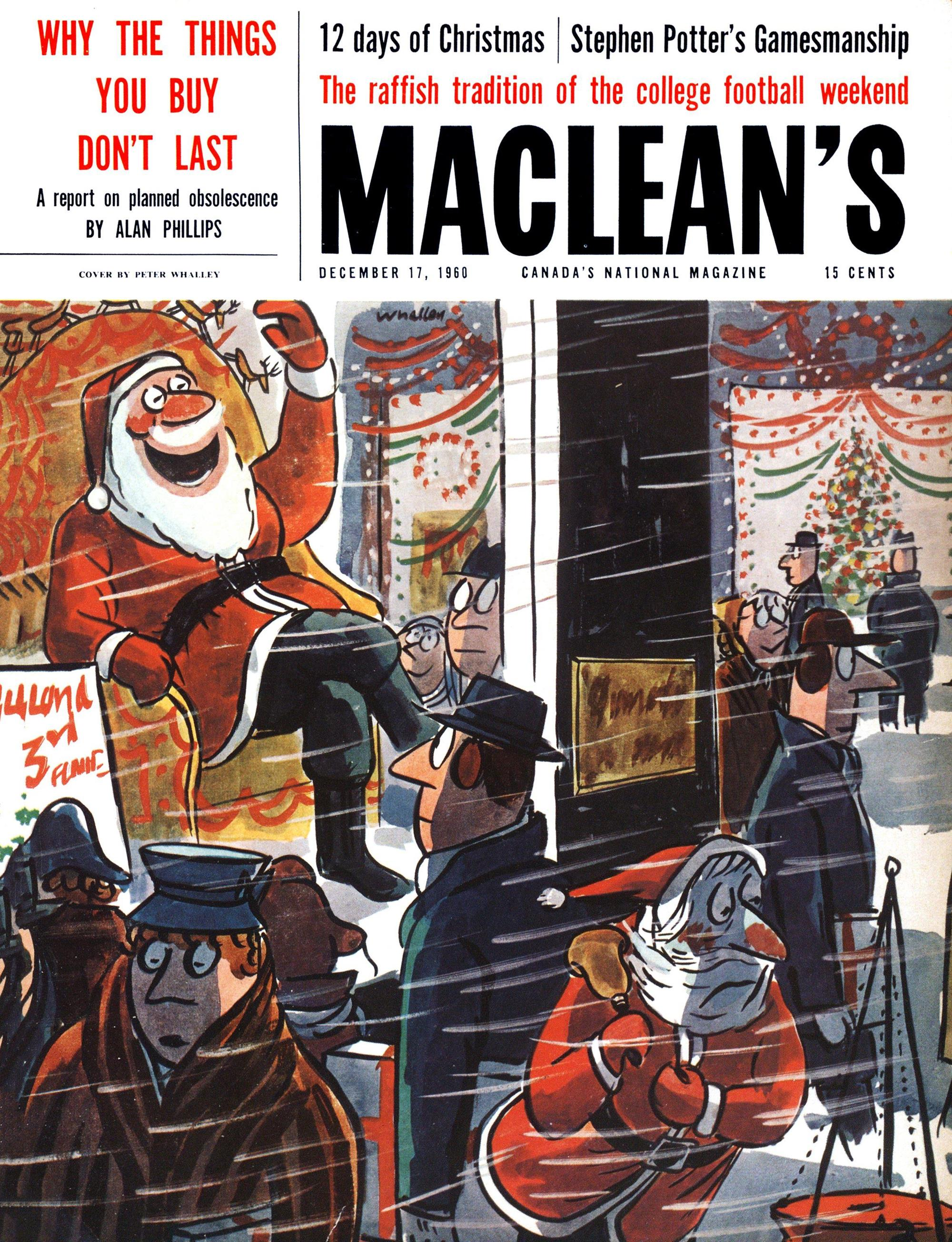 Christmas covers from Canada's iconic painters and cartoonists