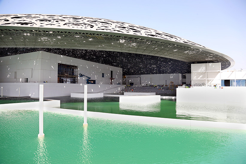 The Louvre Abu Dhabi under construction. (TDIC/Ateliers Jean Nouvel)