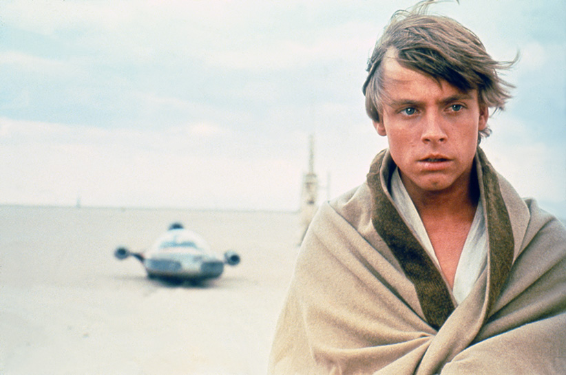American actor Mark Hamill on the set of Star Wars: Episode IV - A New Hope written, directed and produced by Georges Lucas. (Sunset Boulevard/Corbis/Getty Images)