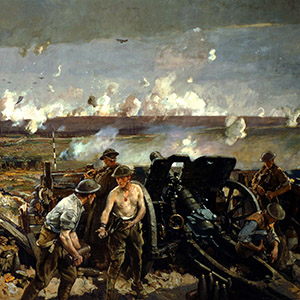 """The Taking of Vimy Ridge,"" 1917. Painted by Richard Jack"