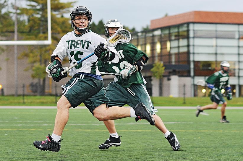 Trent University Lacrosse Player