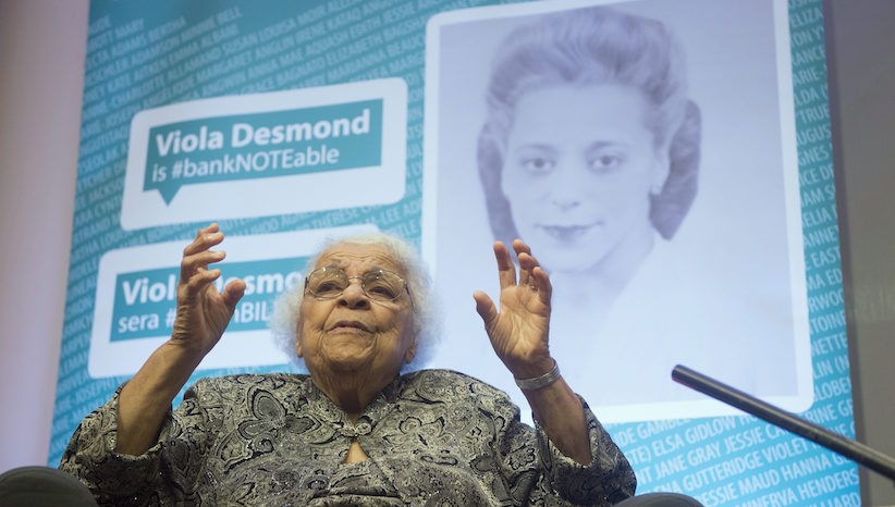Wanda Robson speaks about her sister, Viola Desmond, during an interview in Gatineau, Quebec on Thursday December 8, 2016. THE CANADIAN PRESS/Adrian Wyld