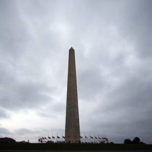 Clouds are seen above the Washington Monument as storms move into the area, Thursday, June 16, 2016 in Washington. A funereal atmosphere has taken hold in government offices in the U.S. capital, where numerous federal employees describe mournful, even tearful, scenes among dejected co-workers commiserating about Donald Trump's impending presidency. THE CANADIAN PRESS/AP, Alex Brandon