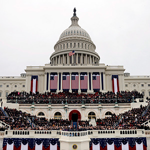 President Barack Obama speaks during the ceremonial swearing-in on the West Front of the U.S. Capitol during the 57th Presidential Inauguration in Washington, Monday, Jan. 21, 2013. (Scott Andrews/AP/CP)