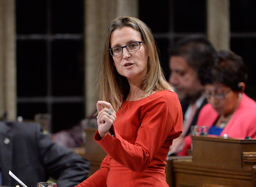 Former International Trade Minister Chrystia Freeland answers a question during question period in the House of Commons on Parliament Hill in Ottawa on Monday, October 24, 2016. (Adrian Wyld/CP)