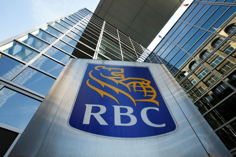 A Royal Bank of Canada (RBC) sign is seen outside of a branch in Ottawa. (Chris Wattie/Reuters)