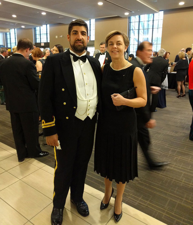 Nick Kouvalis and Kellie Leitch at the Toronto Garrison Officers Ball on April 2, 2016. (NickKouvalis/Twitter)