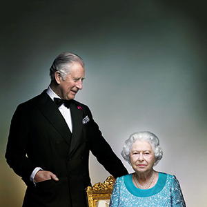 Britain's Prince Charles poses with his mother, Queen Elizabeth, in the White Drawing Room at Windsor Castle, in this photograph taken in May 2016, released by Clarence House in London to mark the end of the year of celebrations for the Queen's 90th birthday, on December 17, 2016. (Nick Knight/Clarence House/Reuters)