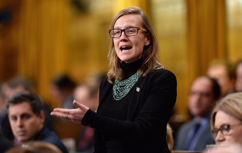 Liberal MP Karina Gould responds to a question during question period in the House of Commons on Parliament Hill in Ottawa on Tuesday, Feb. 16, 2016. (Sean Kilpatrick/CP)