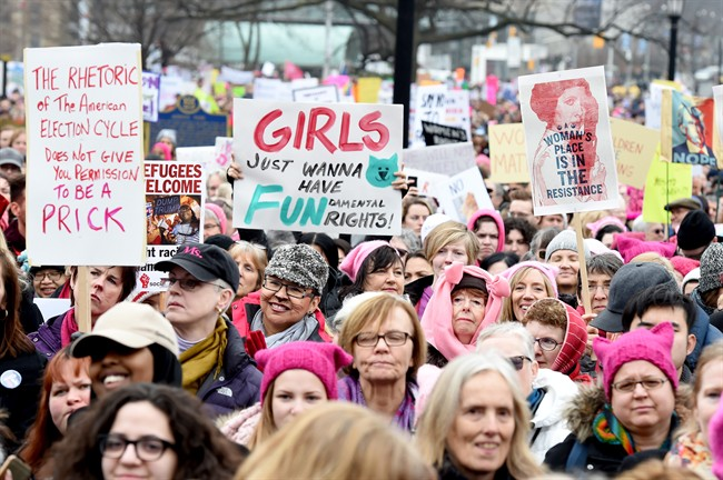 Canadians come out in thousands for #WomensMarch