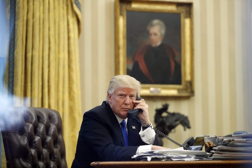 Donald Trump's phone-call leaks are a threat to America