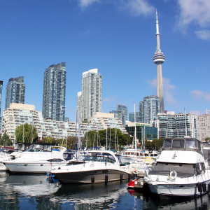 Yachts and condos along the waterfront in Toronto. (Shutterstock)