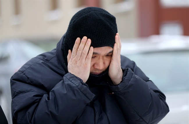Will Baker, formerly known as Vince Li, leaves the Law Courts building in Winnipeg, after his annual criminal code review board hearing, on Monday, February 6, 2017. The federal Opposition leader is criticizing a decision giving complete freedom to a man who beheaded and cannibalized a Greyhound bus passenger in Manitoba. THE CANADIAN PRESS/Trevor Hagan