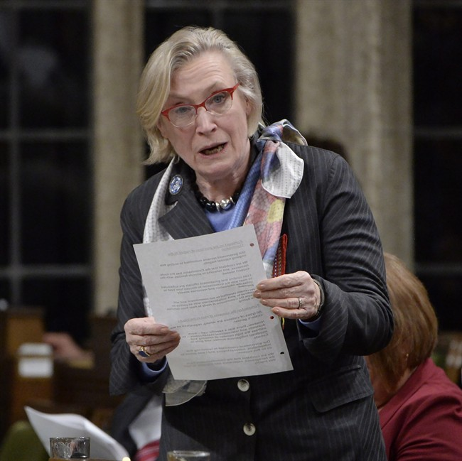 Indigenous and Northern Affairs Minister Carolyn Bennett answers a question during Question Period in the House of Commons in Ottawa, Tuesday, March 21, 2017. THE CANADIAN PRESS/Adrian Wyld