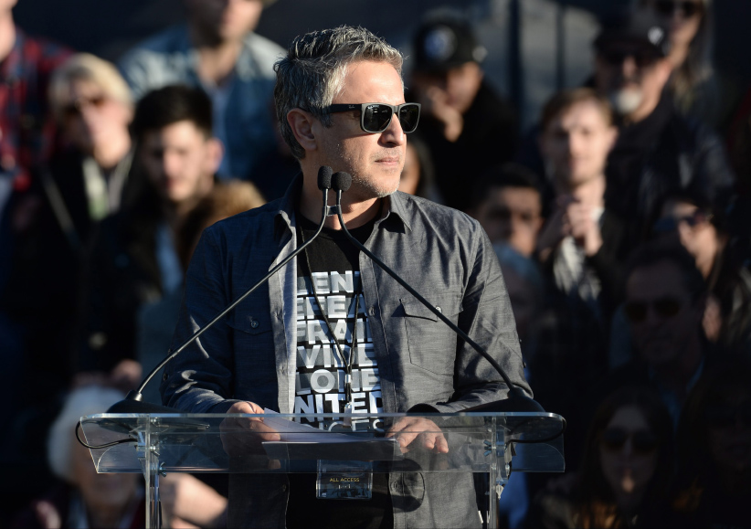 Reza Aslan at a UTA Rally, Los Angeles, USA - 24 Feb 2017. (Stewart Cook/REX/Shutterstock/CP)