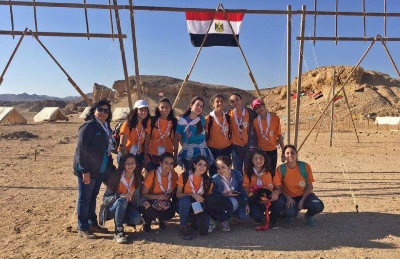 A Syrian girl scouts group is pictured at a summer camp in February 2017. (Scouts of Syria)