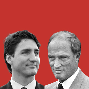Left: Justin Trudeau in this first year of office. (Ron Galella/WireImage) Right: Pierre Trudeau in his first year of office. (FREDERICK FLORIN/AFP/Getty Images)