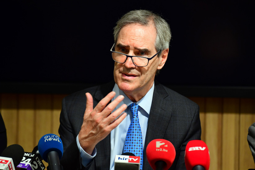 President and Rector of the Central European University (CEU) Michael Ignatieff speaks during a press conference in Budapest on March 29, 2017. The English-language CEU set up in Budapest by Hungarian born American businessman Georg Soros in 1991 after the fall of communism, has long been seen as a hostile bastion of liberalism by Prime Minister Viktor Orban's right-wing government. (Attila Kisbenedek/AFP/Getty Images)
