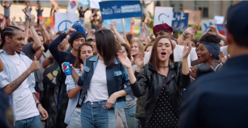 """A screenshot of, """"Pepsi """"Live For Now Moments Anthem"""" starring Kendall Jenner & feat. """"Lions"""" by Skip Marley. (Pepsi Global/YouTube)"""