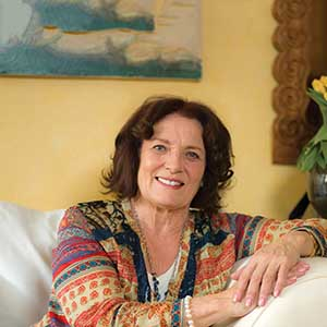 Margaret Trudeau in her Montreal home April 12, 2017. (Photograph by Peter Bregg)