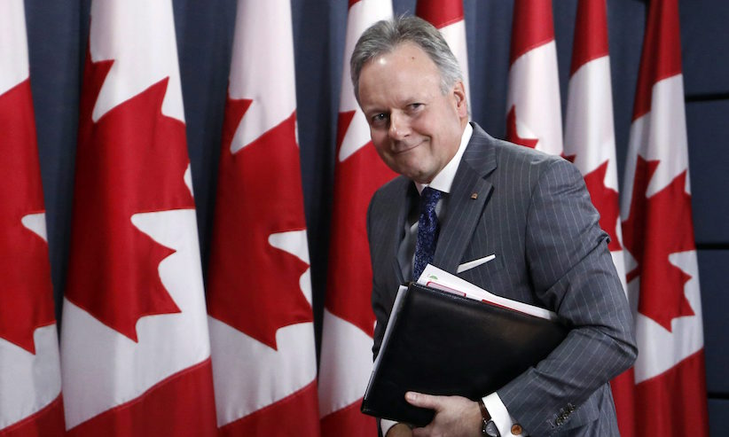 Stephen Poloz, Governor of the Bank of Canada, leaves a news conference after the release of the bank's Monetary Policy Report, in Ottawa, Wednesday, April 12, 2017. THE CANADIAN PRESS/Fred Chartrand