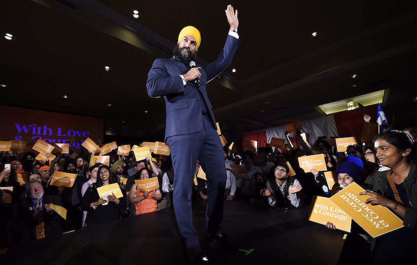 Ontario deputy NDP leader Jagmeet Singh launches his bid for the federal NDP leadership in Brampton, Ont., on Monday, May 15, 2017. THE CANADIAN PRESS/Nathan Denette