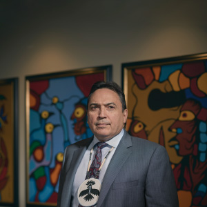 The National Chief Perry Bellegarde in the Assembly of First Nations office in Ottawa. (Photograph by Jessica Deeks)