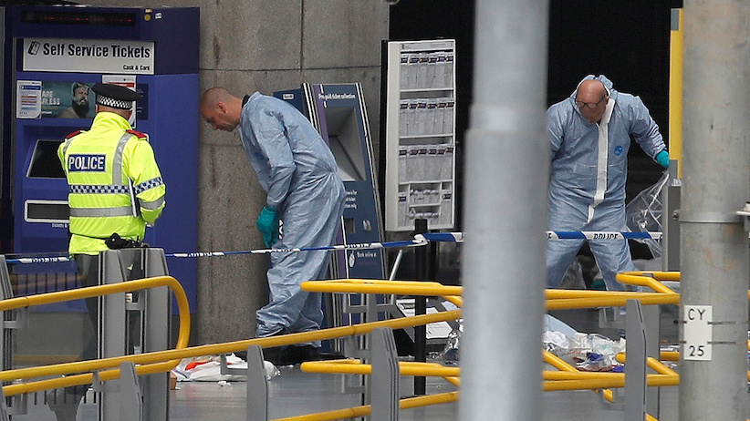 Forensics investigators work at the Manchester Arena in Manchester, Britain May 23, 2017. REUTERS/Darren Staples - RTX37672