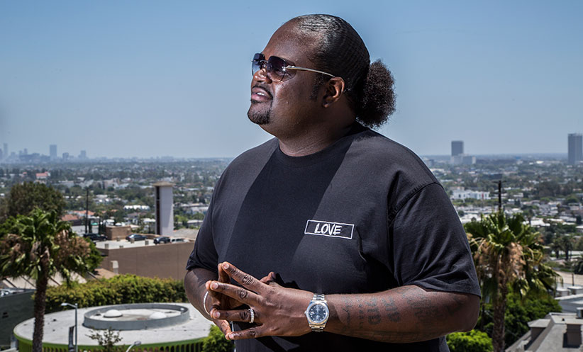 """Jason """"Poo Bear"""" Boyd poses for a portrait in his house at Sunset Strip in Los Angeles, California on July 11, 2016. (Dustin Downing/Red Bull Content Pool)"""